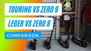 Speedway Leger vs Emove Touring vs Zero 9 vs Zero 8 - (2021) A Big Guy Electric Scooter Review 4K