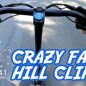 Crazy Fast Electric Scooter Hill Climb Test #shorts