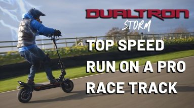 Dualtron Storm Real Top Speed - on a Pro Race Track!