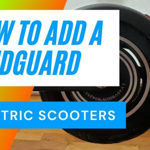 Electric Scooter Mud Guard Installation - 4K