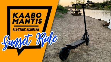 Sunset Ride on my Kaabo Mantis Electric Scooter. (Aliso Viejo and Laguna Niguel, California)