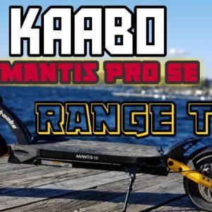 Kaabo Mantis Pro SE Range Attempt