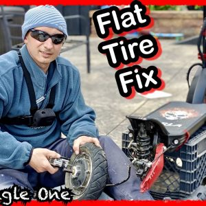 My Electric Scooter Flat tire Repair Was almost a failure!~ Including A Must See Modification!