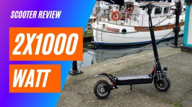 Mystery Electric 2x1000 watt Scooter Review - Big Guy Review - Shot in 4K