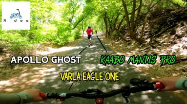 High-Speed Canyon Trail Group Ride w/ Apollo Ghost, Kaabo Mantis Pro, and Varla Eagle One!