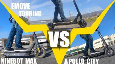 Ninebot Max Vs EMOVE Touring Vs Apollo City: Scooter Showdown