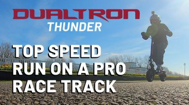 Real Top Speed Run For Dualtron Thunder At a Pro Race Track!