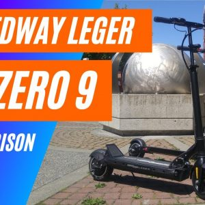 Speedway Leger vs Zero 9 Electric Scooter - A Big Guy Review