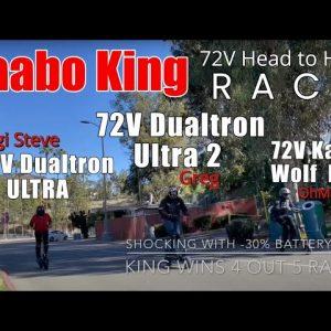 THE 72V RACE |  Kaabo Wolf KING  -vs-  DT ULTRA 2  |  DT ULTRA 60V