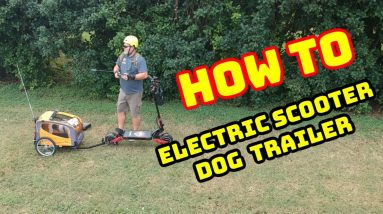 Electric Scooter Trailer How To. My Dog loves to ride on my Varla Eagle One!