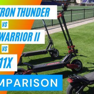 Zero 11x - Dualtron Thunder - Wolf Warrior Dualtron 11 Electric Scooter Ride Comparison
