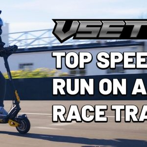 VSETT10+ Electric Scooter Top Speed Test - On a Pro Race Track!