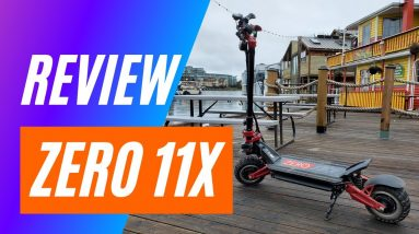 Zero 11X Electric Scooter Review  - Big Guy Electric Scooter Review - Filmed in 4K