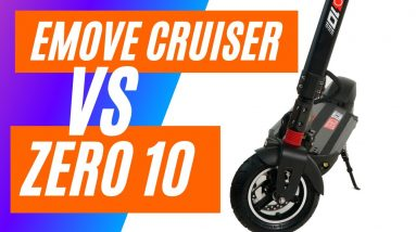 Emove Cruiser vs Zero 10 Review Comparison - Another Big Guy Eclectic Scooter Review 2021