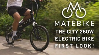 MATE CITY Foldable Electric Bike - First Look!
