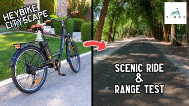 Enjoy a Scenic Ride With Me on My New E-Bike! Heybike Cityscape Range Test
