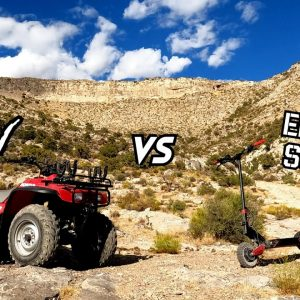 Can an Electric Scooter Keep Up With an ATV Off Road? Varla Eagle One vs Honda FourTrax